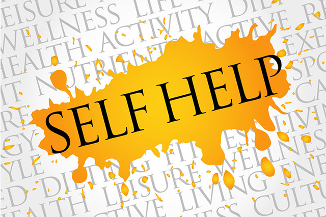Graphic showing the words Self Help